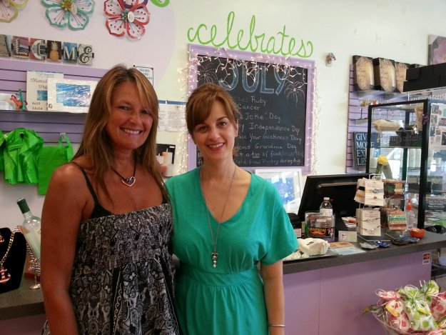 Ann Foley-Collins of Glee Gifts in Mansfield, MA with Sarah Ranes