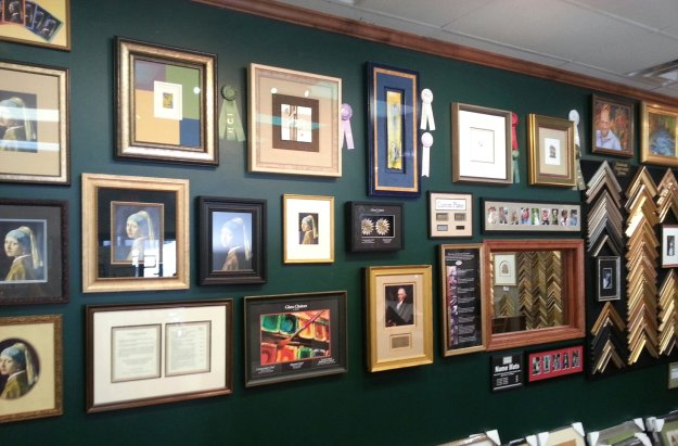 Award winning framing designs are complimented with industry comparison samples for glass, document two sided encapsulation framing and other creative options - Framed in Tatnuck, Worcester, MA.