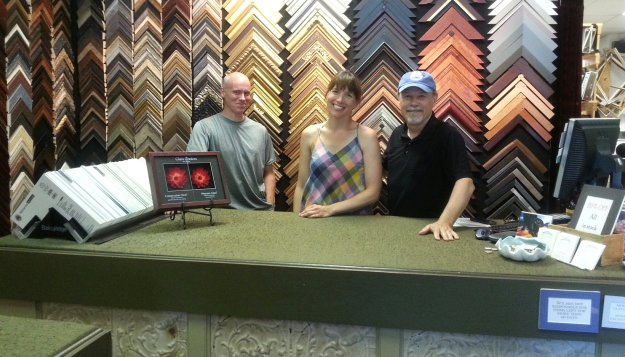 John Ranes chats with The Village Framer owner Melissa Cusano and framer Ryan Penny